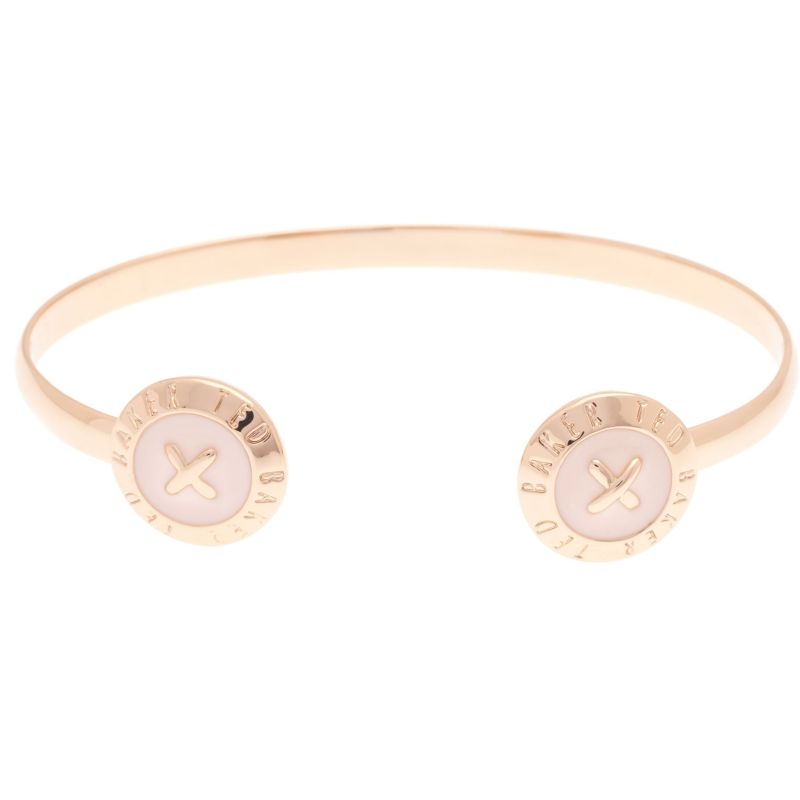 Ladies Ted Baker Rose Gold Plated Eida Enamel Double Button Cuff TBJ1262-24-134