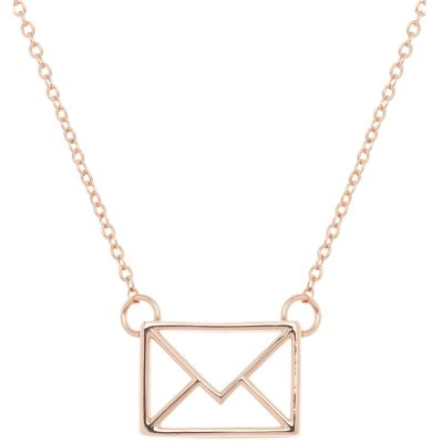 Ladies Ted Baker Rose Gold Plated Irinna Love Letter Pendant TBJ1268-24-03