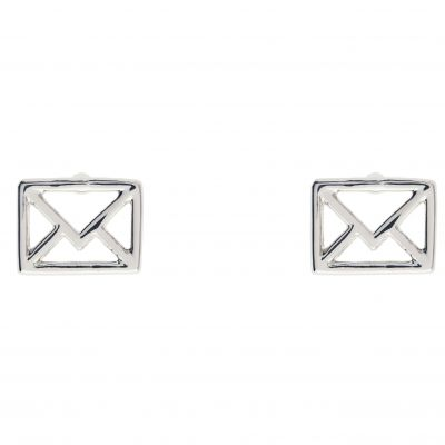 Ladies Ted Baker Silver Plated Iciaa Love Letter Stud Earring TBJ1270-01-03