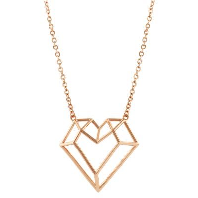Ladies Ted Baker Gold Plated Jeanna Gem Frame Heart Pendant TBJ1289-24-03