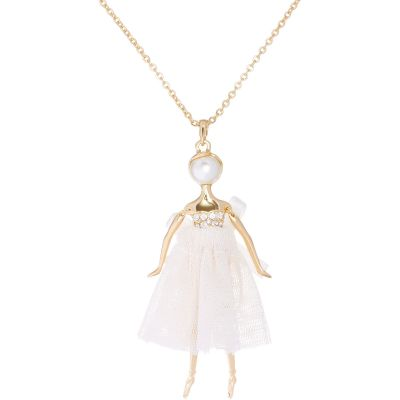 Ladies Ted Baker Gold Plated Bijou Pave Ballerina Pendant TBJ1324-02-58