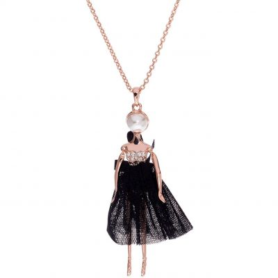 Ladies Ted Baker Rose Gold Plated Bijou Pave Ballerina Pendant TBJ1324-24-05