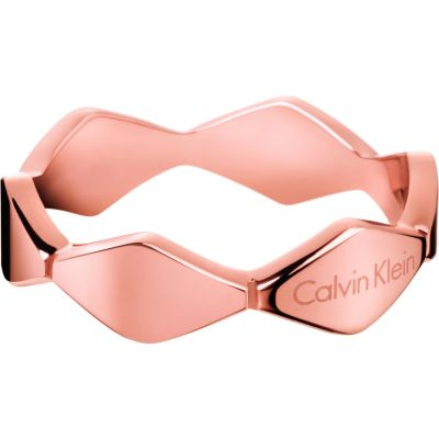 Ladies Calvin Klein PVD rose plating Size N Snake Ring KJ5DPR100107