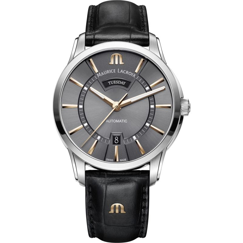 Mens Maurice Lacroix Pontos Day-Date Automatic Watch