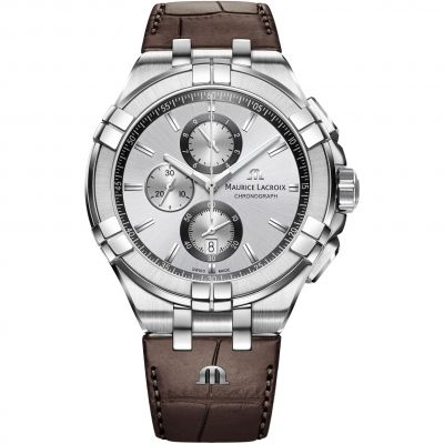 Maurice Lacroix Aikon Herenchronograaf Bruin AI1018-SS001-130-1
