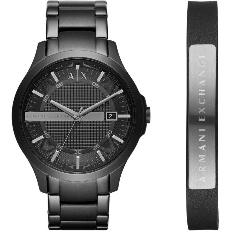 Mens Armani Exchange Gift Set Watch