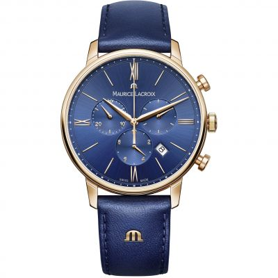 Mens Maurice Lacroix Eliros Chronograph Watch EL1098-PVP01-411-1