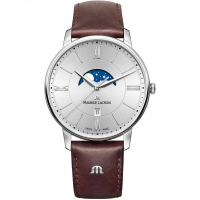 Mens Maurice Lacroix Eliros Moonphase Watch EL1108-SS001-110-1