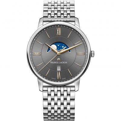 Mens Maurice Lacroix Eliros Moonphase Watch EL1108-SS002-311-1