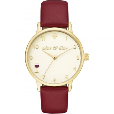 Kate Spade New York Metro Dameshorloge Rood KSW1188