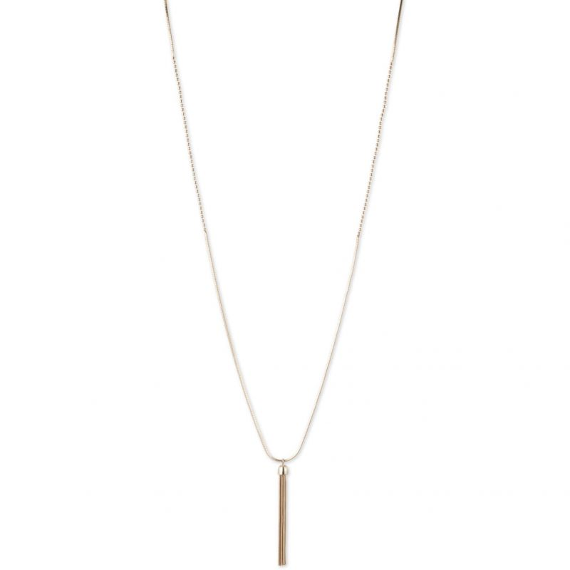 Ladies Nine West Two-tone steel/gold plate Swing Along 36 Inch Necklace 60441354-887