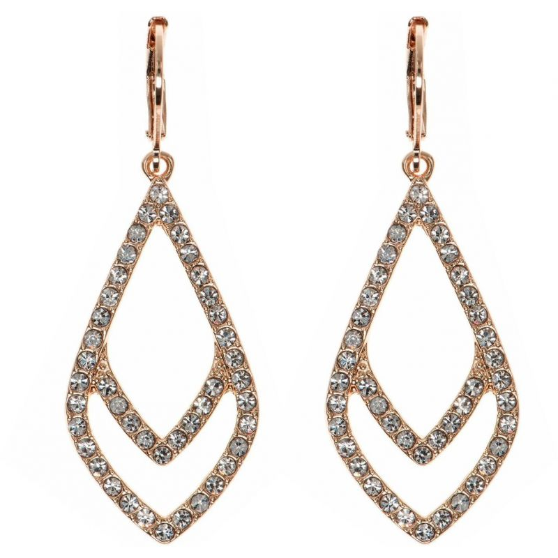 Ladies Anne Klein Rose Gold Plated Socialite Earrings 60440092-9DH