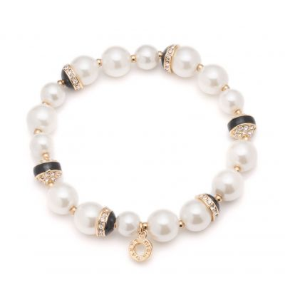 Ladies Anne Klein Gold Plated Sweet Pearls Bracelet 60428194-887