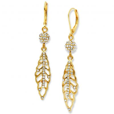 Ladies Lonna And Lilly Gold Plated Gold Standard Earrings 60441196-887