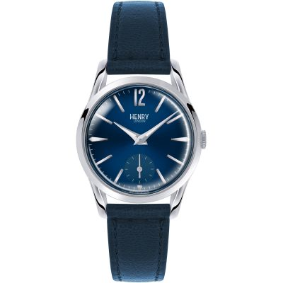 Henry London Heritage Knightsbridge Damenuhr in Blau HL30-US-0069
