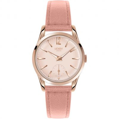 Henry London Heritage Shoreditch Damenuhr in Pink HL30-US-0154