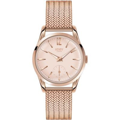 Henry London Heritage Shoreditch Damenuhr in Rosa HL30-UM-0164