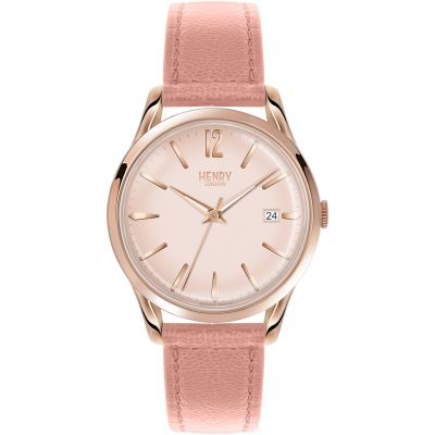 Henry London Heritage Shoreditch Damenuhr in Pink HL39-S-0156