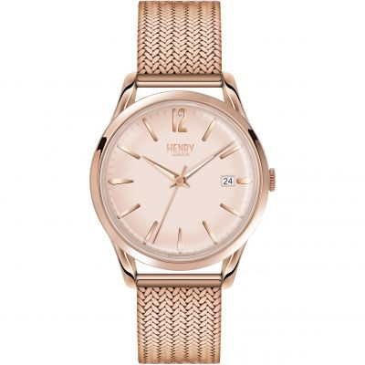 Henry London Heritage Shoreditch Herrenuhr in Rosa HL39-M-0166