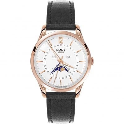 Henry London Heritage Richmond Herenhorloge Zwart HL39-LS-0150