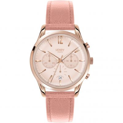 Henry London Heritage Shoreditch Dameschronograaf Roze HL39-CS-0158