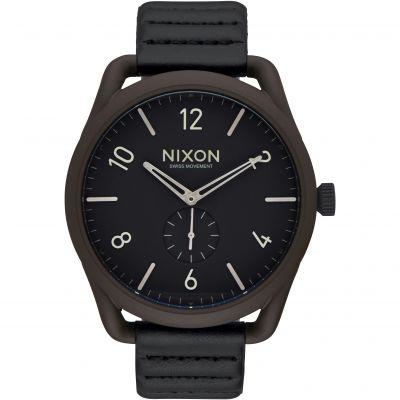 Mens Nixon The C45 Leather Watch A465-2138