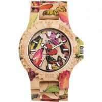 Unisex Wewood Date Butterfly Watch
