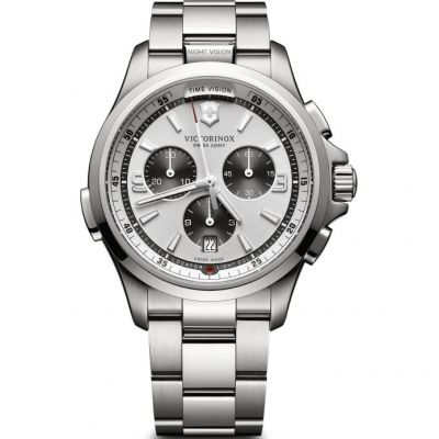 Victorinox Swiss Army Night Vision Night Vision Herrenchronograph in Silber 241728