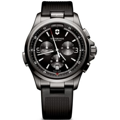 Mens Victorinox Swiss Army Night Vision Chronograph Watch 241731