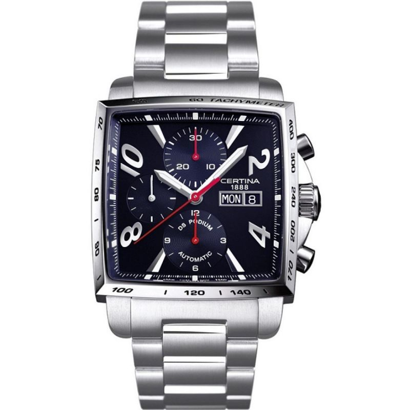 Mens Certina DS Podium Square Automatic Chronograph Watch