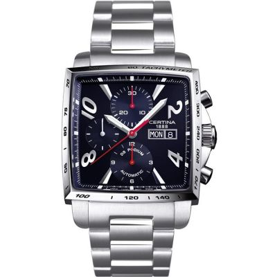 Mens Certina DS Podium Square Automatic Chronograph Watch C0015141105700