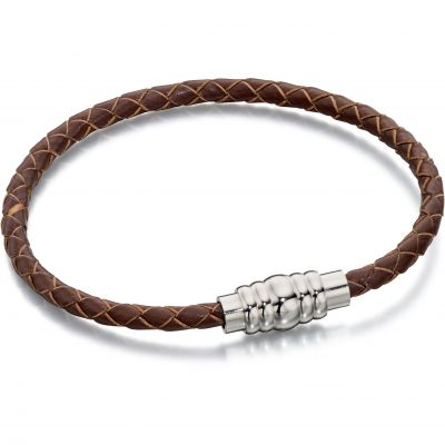 Fred Bennett Heren & Leather Bracelet Roestvrijstaal B4727