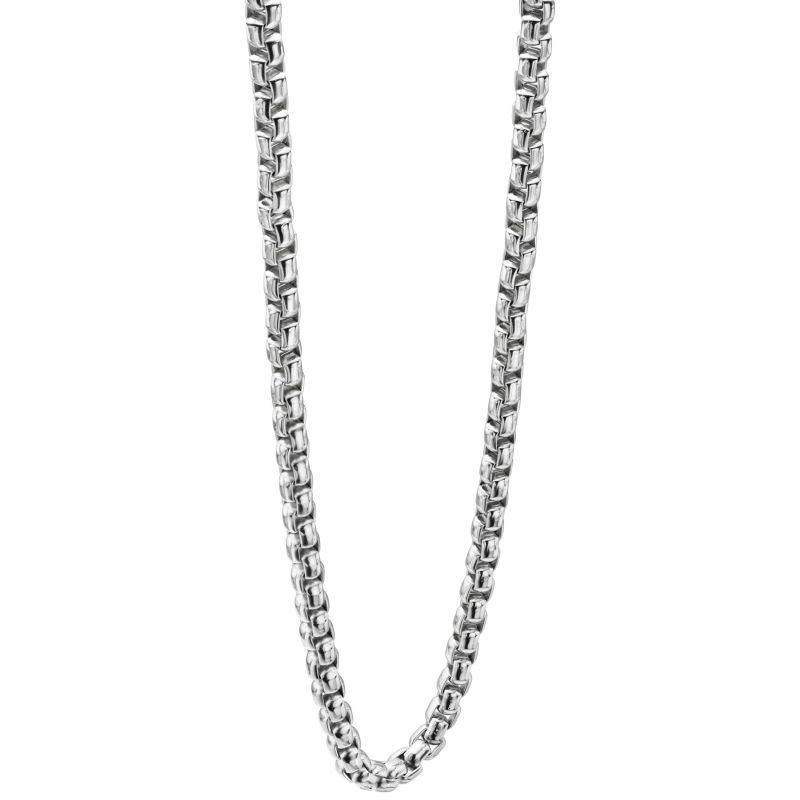 Mens Fred Bennett Stainless Steel 60cm Belcher Necklace N3735