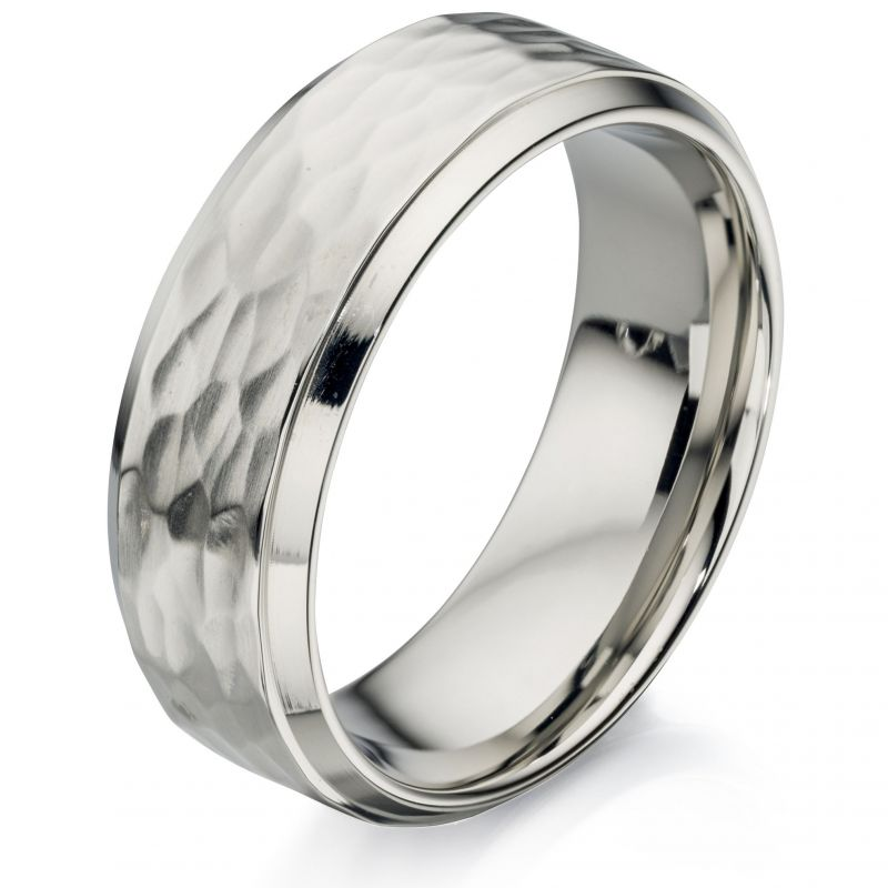 Mens Fred Bennett Stainless Steel Ring Size T R3414-62