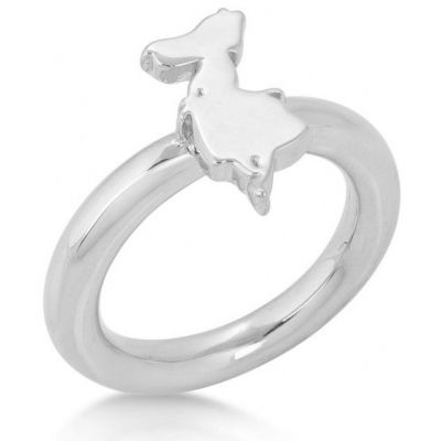 Ladies Disney Couture Silver Plated Alice in Wonderland Silhouette Ring Size N DSR006-7