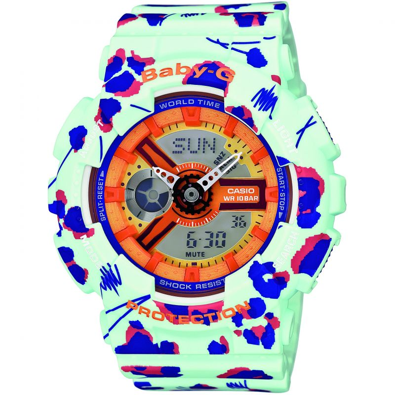 Ladies Casio Baby-G Flowers Alarm Chronograph Watch