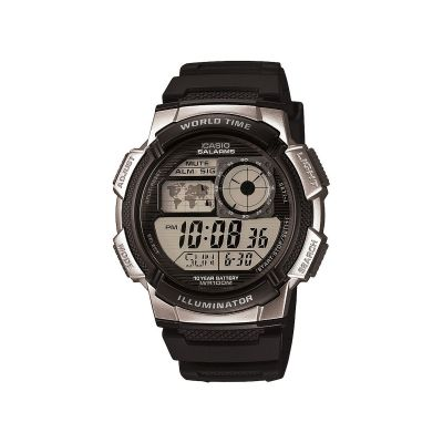 Mens Casio World Time Alarm Chronograph Watch AE-1000W-1A2VEF