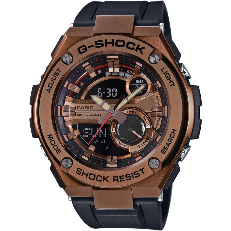 Mens Casio G-Steel Alarm Chronograph Watch GST-210B-4AER