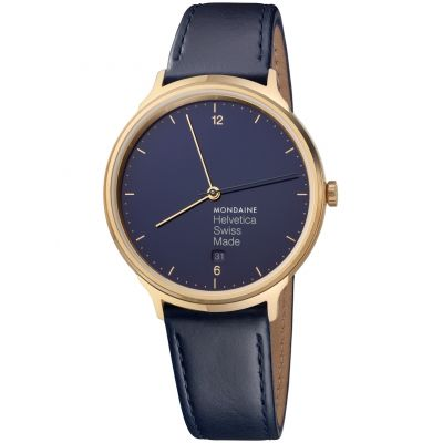 Mondaine Helvetica No 1 Light 38mm Dameshorloge Blauw MH1L2241LD