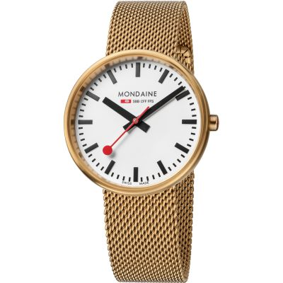 Mondaine Swiss Railways Mini Giant Dameshorloge Goud A7633036221SBM
