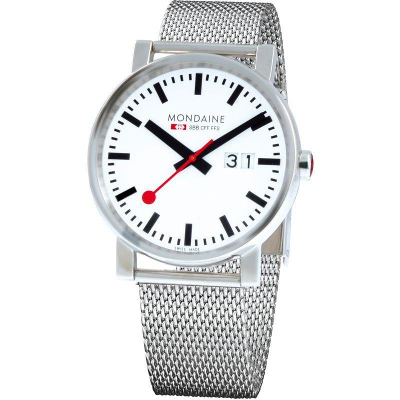 Mens Mondaine Swiss Railways Big Date Watch