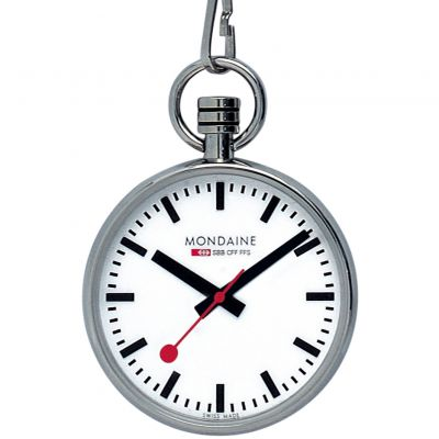 Mondaine Swiss Railways Pocket Fickurklocka Silver A6603031611SBB