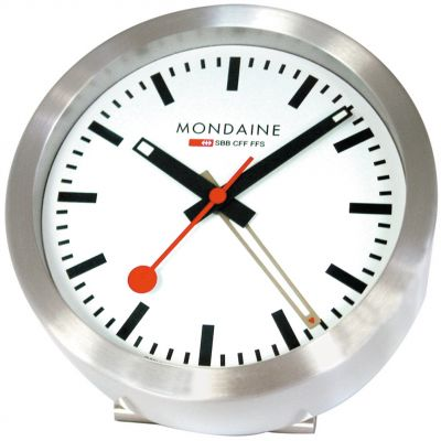 Mondaine Mini Desk Clock Unisexuhr in Silber A997.MCAL.16SBB