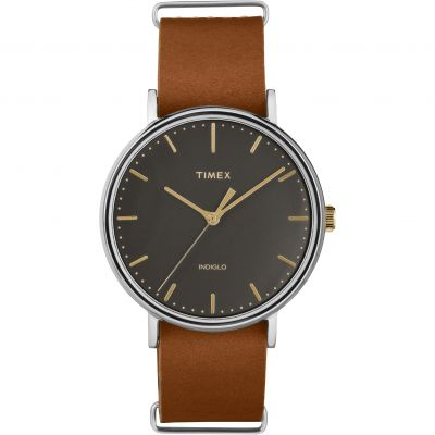 Timex 41mm Weekender Fairfield Unisexuhr in Braun TW2P97900