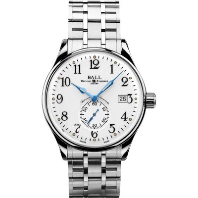 Montre Homme Ball Trainmaster Standard Time Chronometer NM3888D-S1CJ-WH