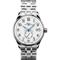Mens Ball Trainmaster Standard Time Chronometer Watch NM3888D-S1CJ-WH