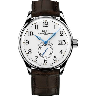 Montre Homme Ball Trainmaster Standard Time Chronometer NM3888D-LL1CJ-WH