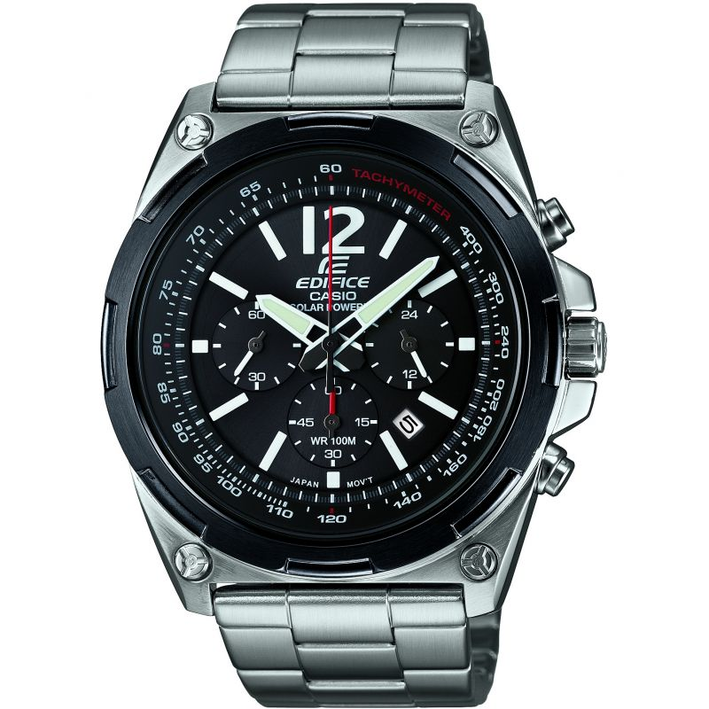 Mens Casio Edifice Chronograph Solar Powered Watch