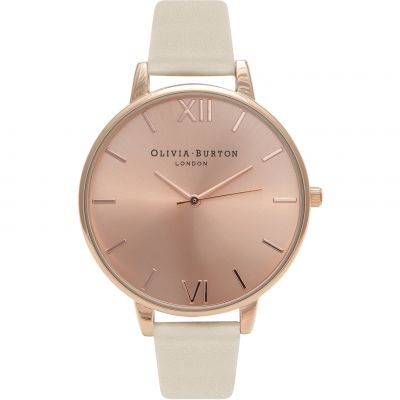 Olivia Burton Big Dial Vegan Friendly Dameshorloge Creme OB16BDV01