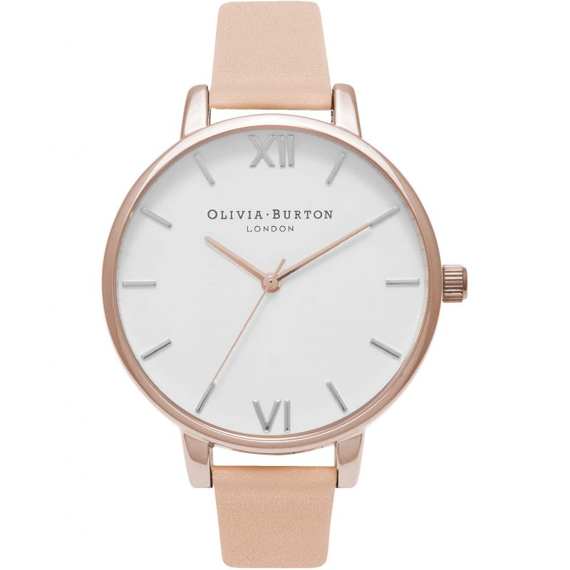 White Dial Nude Peach & Rose Gold Watch
